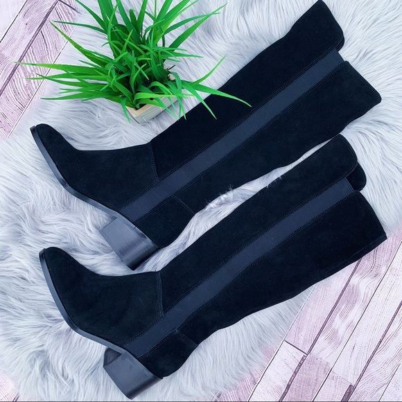 500f8fd014c Steve Madden Giselle Black Suede Riding Boots $169 NWT